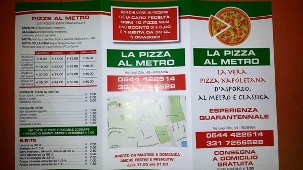 La pizza al metro